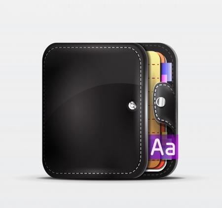 empty wallet: Wallet   organizer mobile app icon