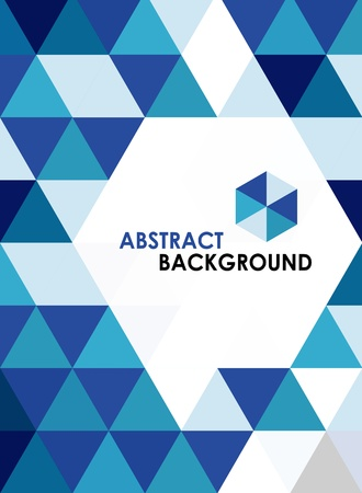 triangle shape: Blue modern geometrical abstract background