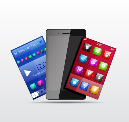 Mobile phone applications Vector