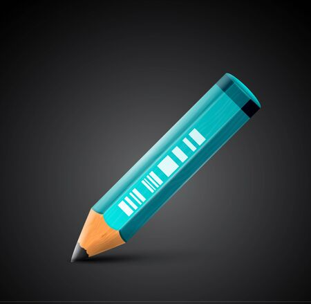 colorful detailed pencil icon Vector