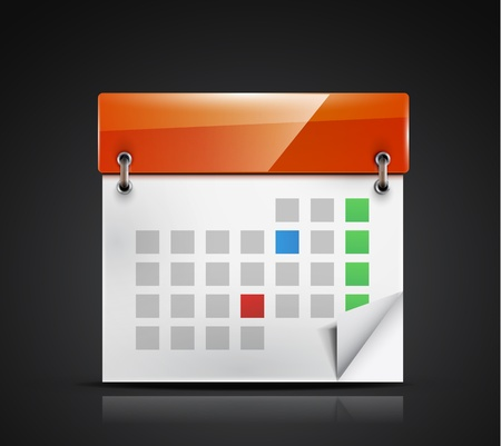 calendar icon Stock Vector - 18789799