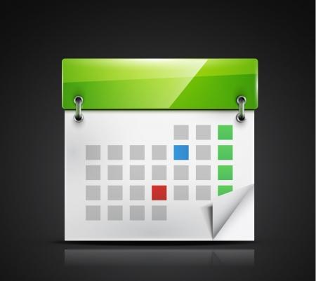 calendar icon Stock Vector - 18789800