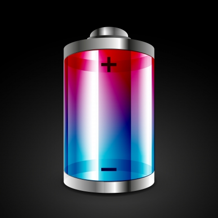 polarity: Battery icon Illustration