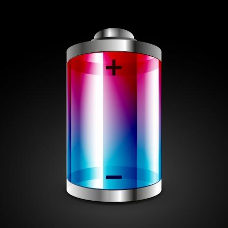 recarga: Icono de la bater�a Vectores