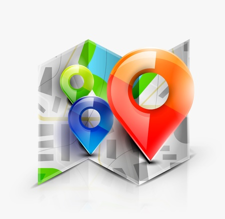 Map navigation icon Illustration