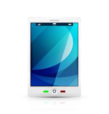 White mobile phone icon Stock Vector - 19008583