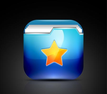Favorite folder icon concept Stock Vector - 19008597