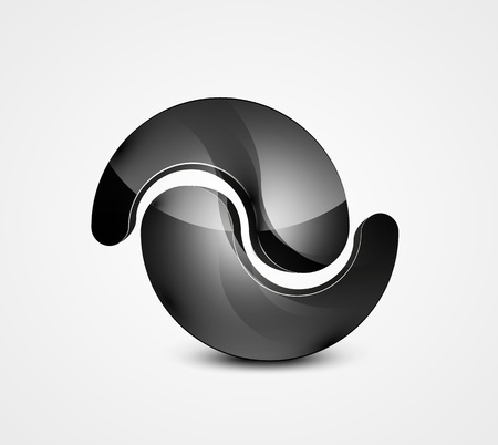 Abstract black shape  business symbol Vector