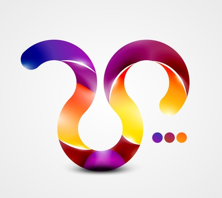 Colorful abstract swirl shape Vector