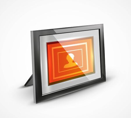 Vector photo frame 3d icon Vector