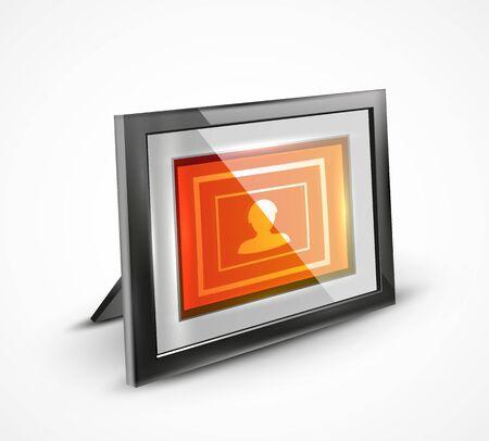 photo frame: Vector photo frame 3d icon