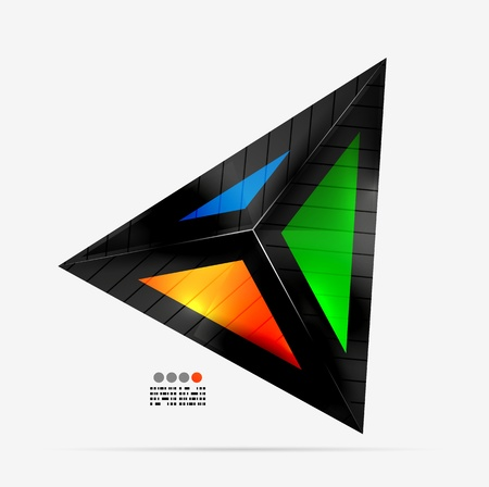 Abstract geometrical shape - colorful triangle Vector