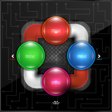 Abstract colorful bubbles infographic design Vector