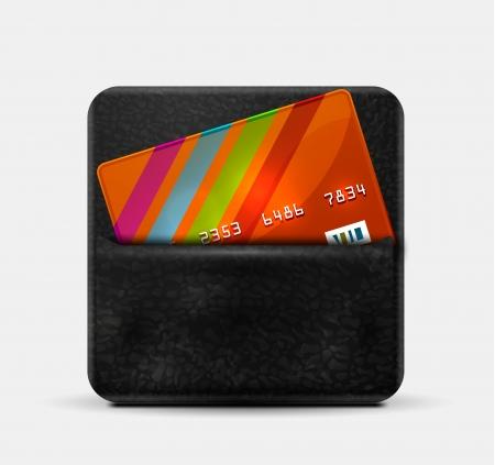 Portafoglio in pelle per carte di credito