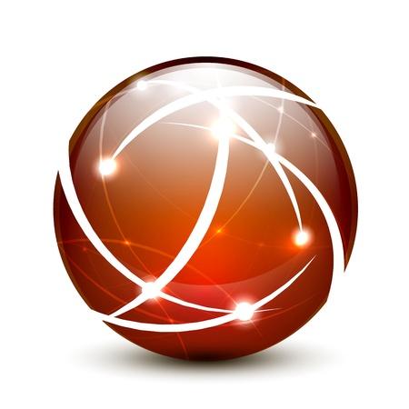 connection concept: Communication globe icon concept