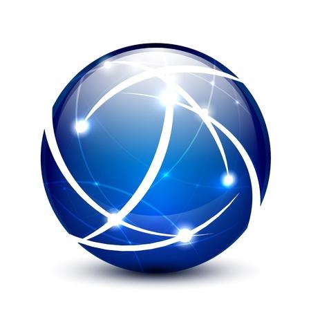 the internet: Comunicazione globo icona concetto Vettoriali