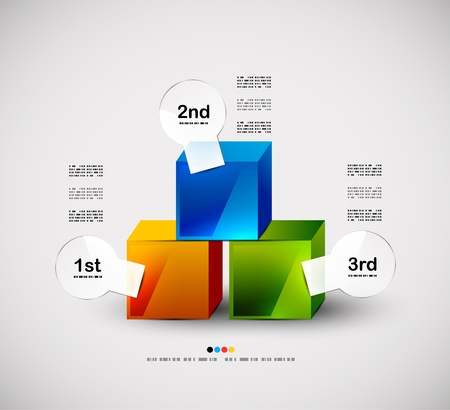 Colorful cubes modern design Vector