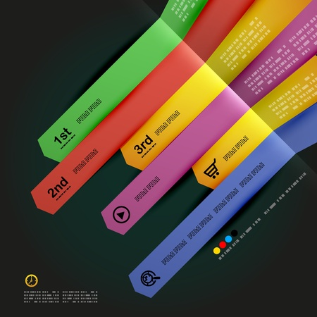 Modern minimal infographic arrows design Vector