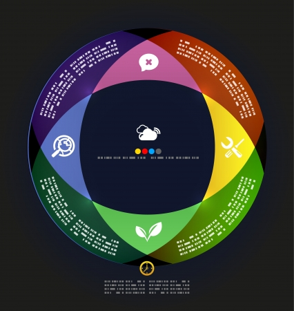 Modern circle infographic minimal design template Vector