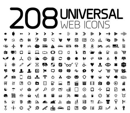 Noir icônes web, internet, business Vecteurs
