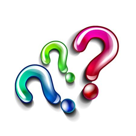 silver boder: Question concept vector