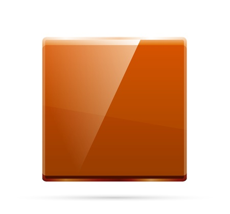 Glass square color plate Vector