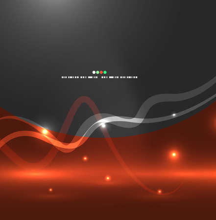 Abstract flying lights Vector