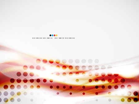 visual presentations: Wave abstract design template
