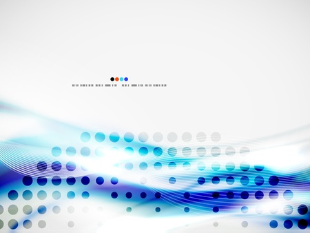 Wave abstract design template Stock Vector - 19561635