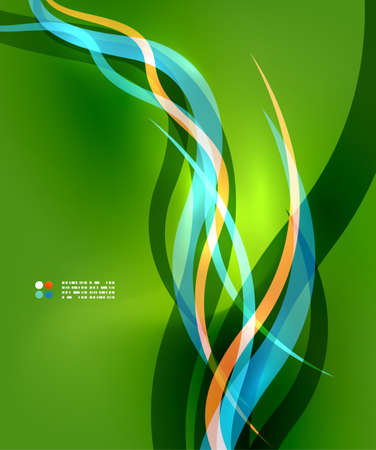 Blue waves on green Vector