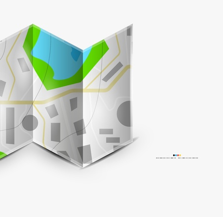 unfolded: City map page with copyspace