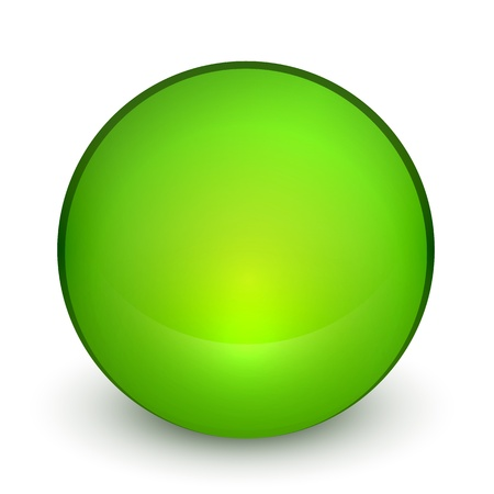 Color matte light sphere button Vector