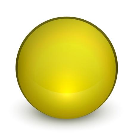 Color matte light sphere button Stock Vector - 19561662
