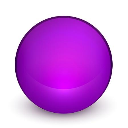 Color matte light sphere button Stock Vector - 19561655