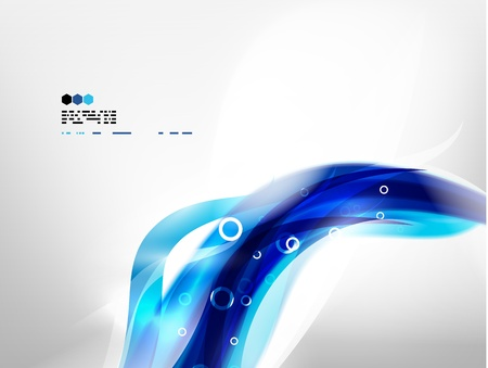 blue gradient background: Blue wave vector Illustration
