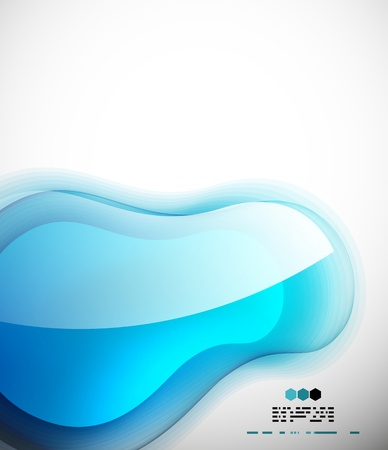 Blue glossy bubble abstract shape Stock Vector - 19727061