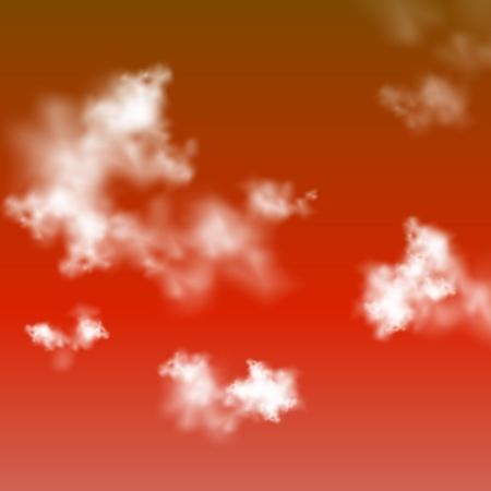 Red sky vector background Vector
