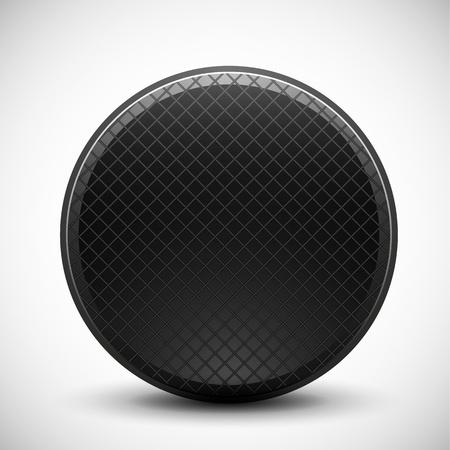meshed: Dark circle made of metal grid design