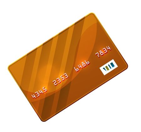 Color credit card vector photo