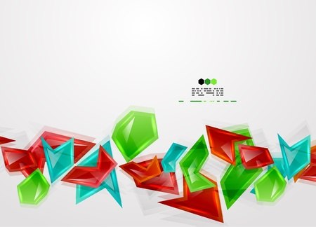 Colorful glass pieces Vector