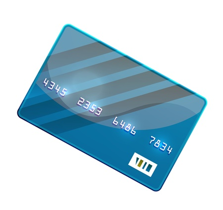 Color credit card vector Vector