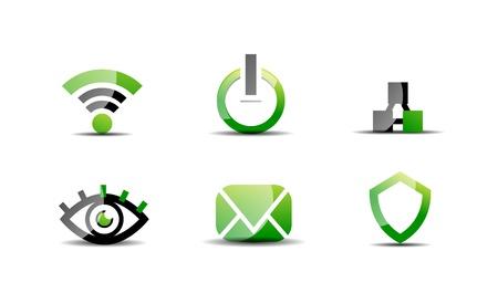 Modern vector web green Stock Vector - 20083762
