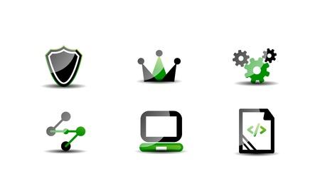 Modern vector web green Stock Vector - 20083761