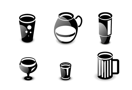 Glossy drinks and beverages icon set Stock Vector - 20083775