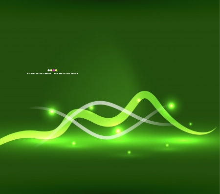 green swirl: Abstract glowing lines Illustration