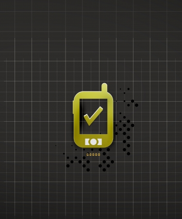 Mobile phone black technology design vector Stock Vector - 20150119