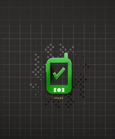 Mobile phone black technology design Stock Photo - 20150553