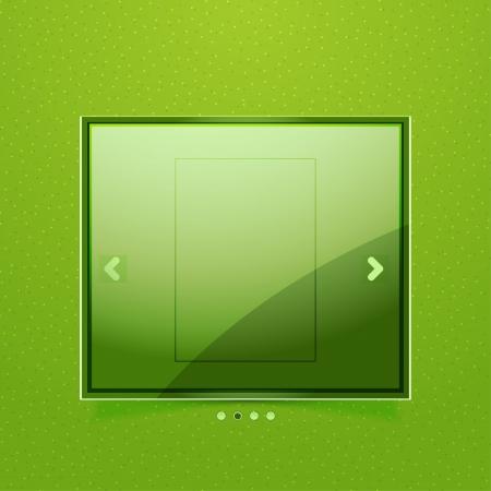 Glossy screen ad Stock Vector - 20221470