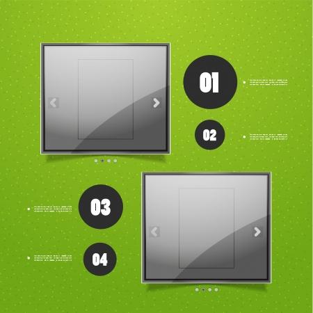 Glossy screen ad Vector