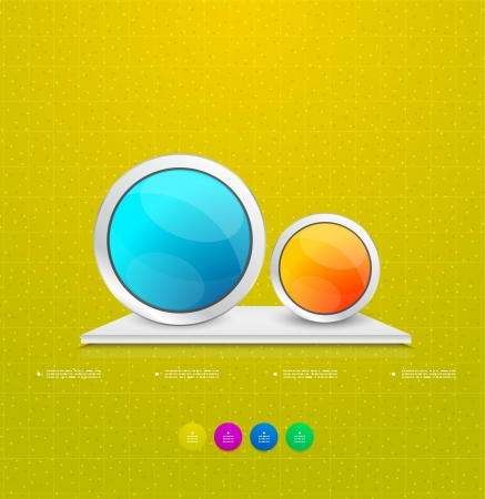 Modern circle steps infographics Vector